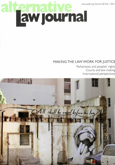AltLJ 36(1) - Making The Law Work For Justice