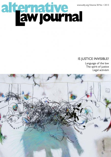 AltLJ 38(1) - Is Justice Invisible