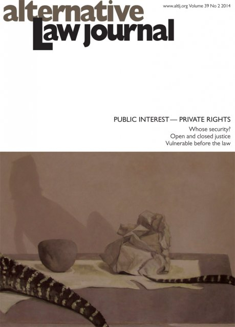 AltLJ 39(2) - Public Interest - Private Rights